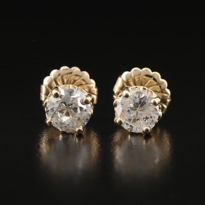 14K 2.56 CTW Diamond Stud Earrings