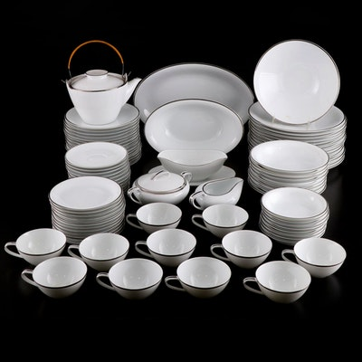 "Noritake ""Silverdale"" Platinum Trim Porcelain Dinnerware, 1954–1971"