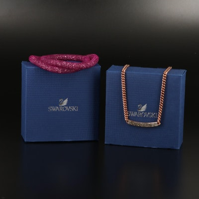 Swarovski Vio Pavé Stationary Necklace and Stardust Bracelet