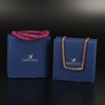 "Swarovski ""Stardust"" Bracelet and ""Vio"" Stationary Necklace"