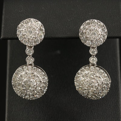 14K 3.92 CTW Diamond Circular Earrings
