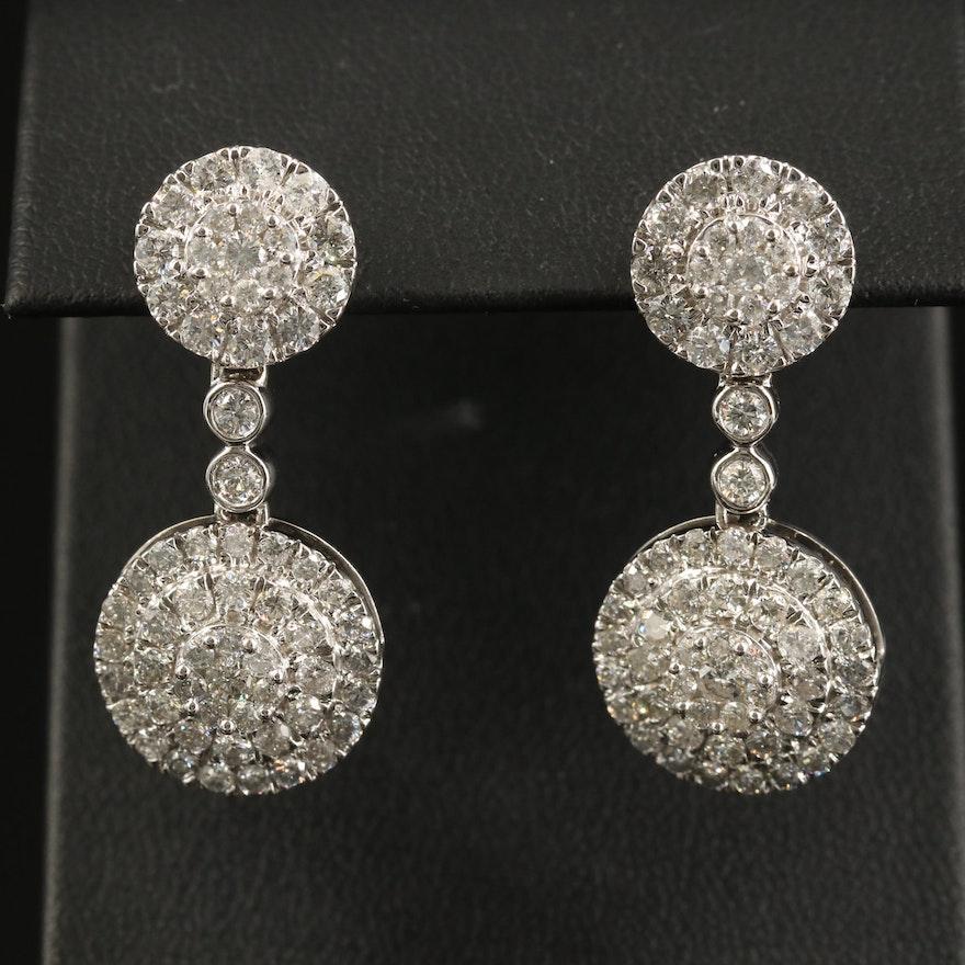 14K 3.92 CTW Diamond Circular Earrings