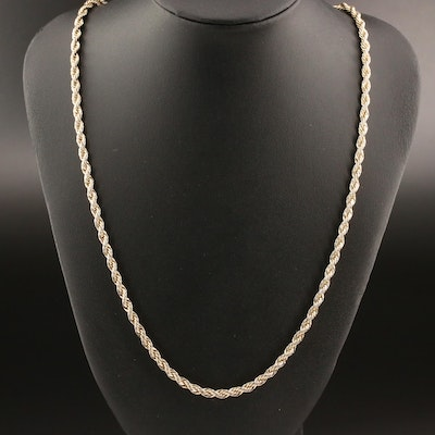 French Rope Chain Necklace