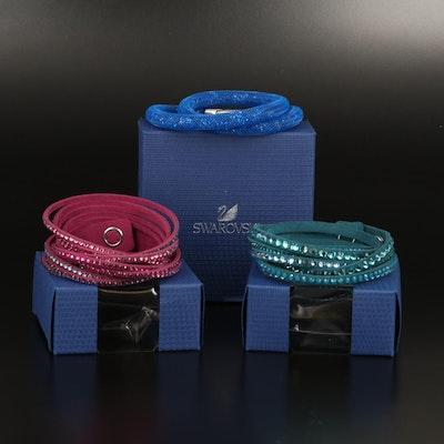 """Swarovski Suede Wrap and """"Stardust"""" Bracelets"""