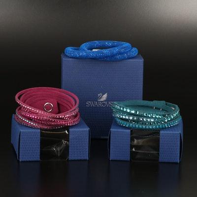 """Swarovski Jewelry Suede and """"Stardust"""" Wrap Bracelets"""
