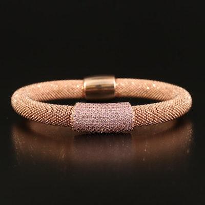 Sterling Cubic Zirconia Station Bracelet
