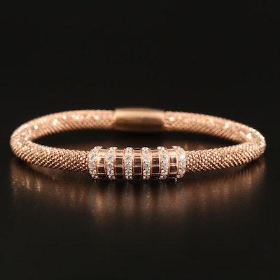 Sterling Cubic Zirconia Bead Bracelet