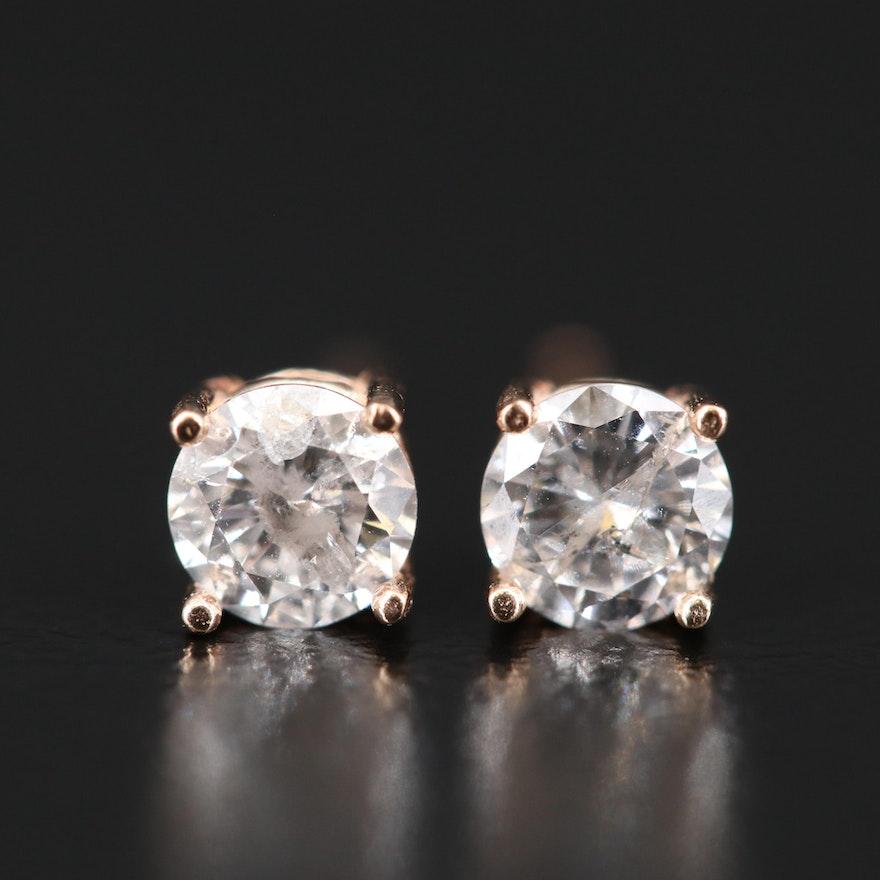 14K 0.63 CTW Diamond Stud Earrings
