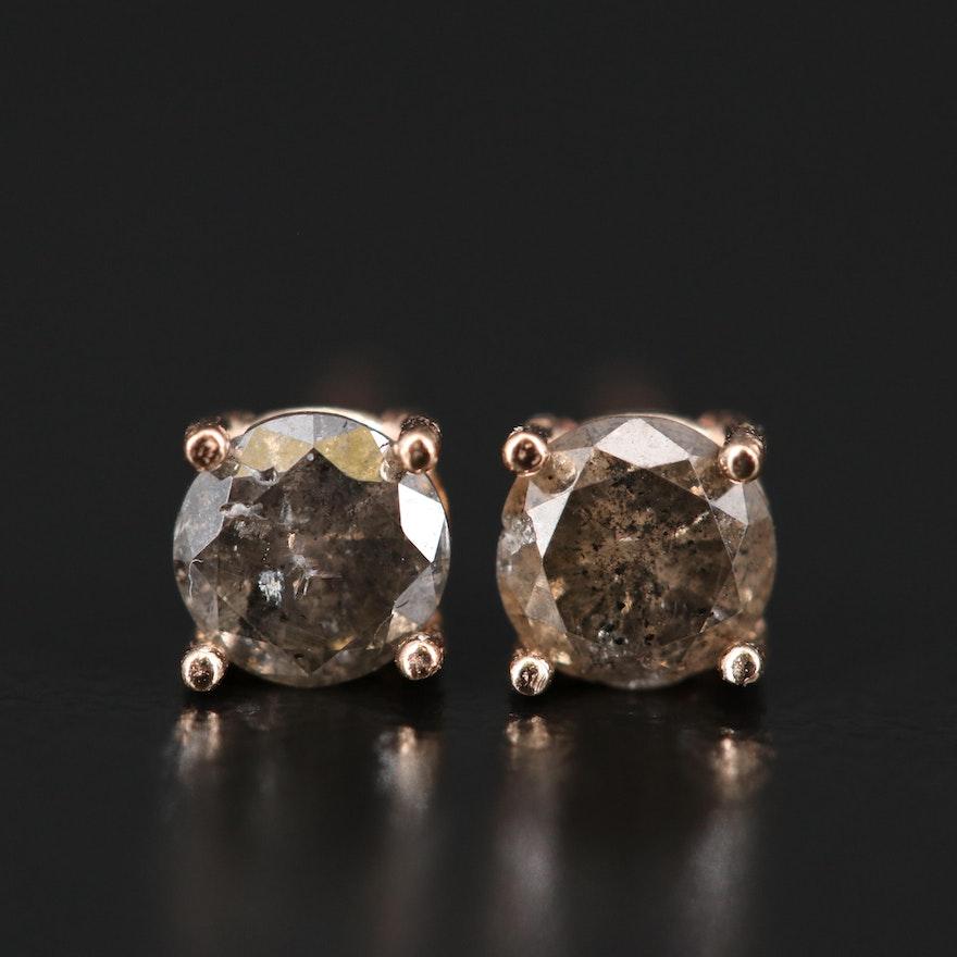 14K 0.63 CTW Diamond Solitaire Earrings