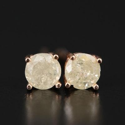14K 0.64 CTW Diamond Studs
