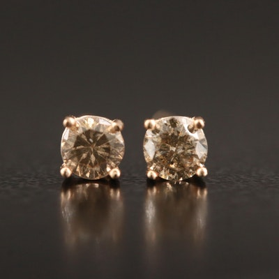14K Rose Gold 0.32 CTW Diamond Stud Earrings