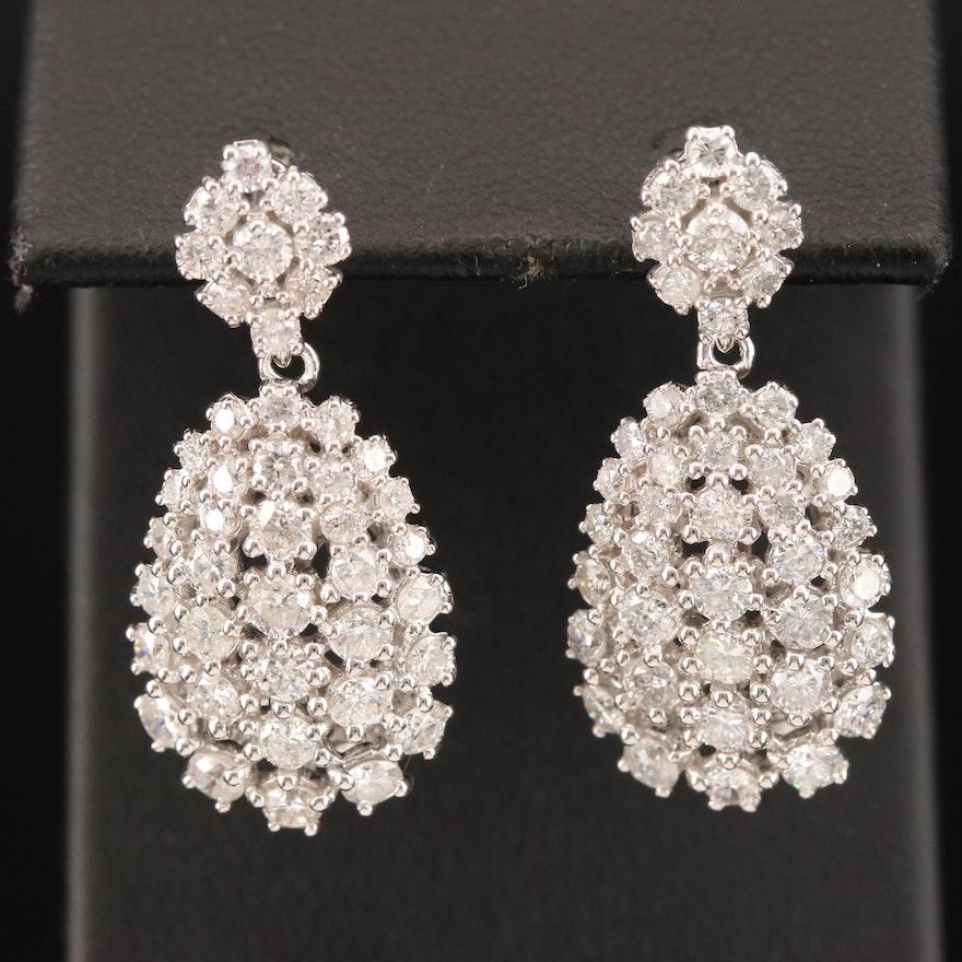 14K 3.24 CTW Dangle Earrings