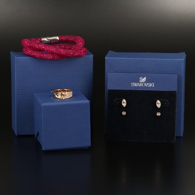 Swarovski Jewelry Featuring Stardust Bracelet and Gallon Interlocking Ring