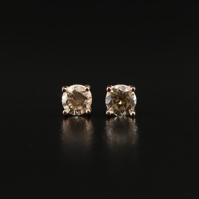 14K Rose Gold 0.30 CTW Diamond Stud Earrings