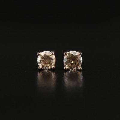 14K Rose Gold 0.30 CTW Diamond Stud Earrings