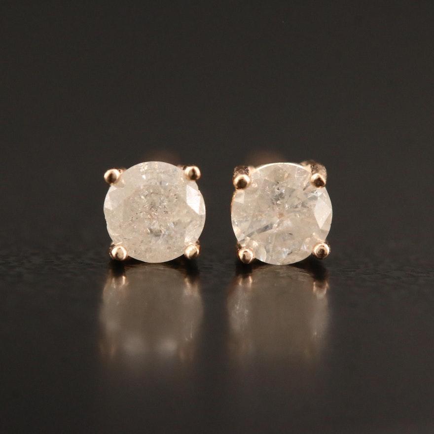 14K 0.35 CTW Diamond Stud Earrings