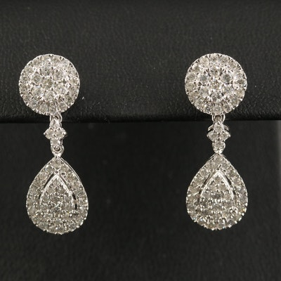 14K 1.68 CTW Diamond Drop Earrings