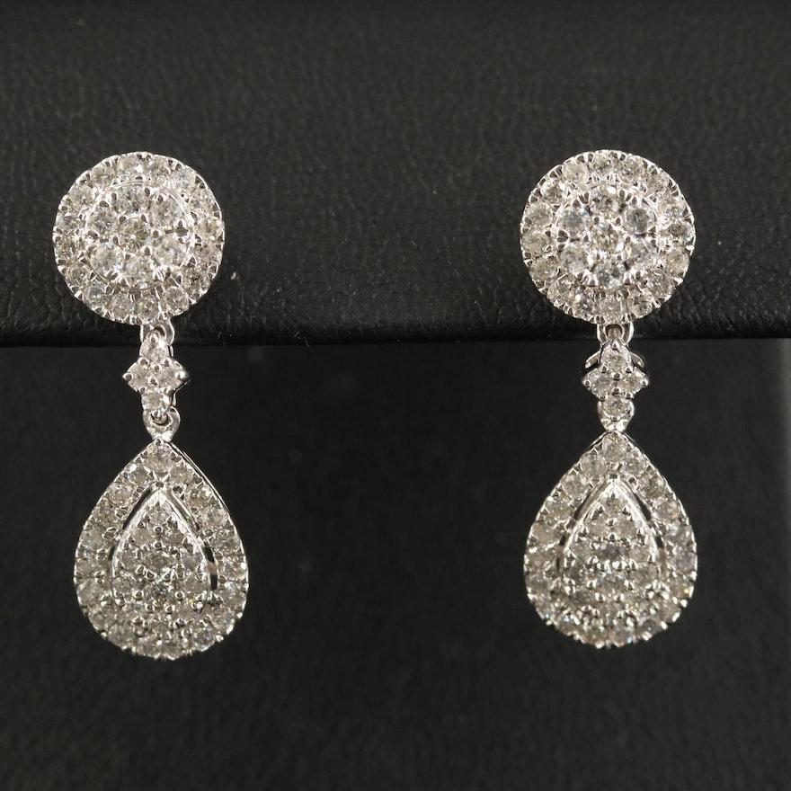 14K 1.68 CTW Diamond Drop Earrings