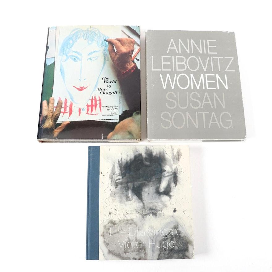 Annie Leibovitz, Marc Chagall, and Victor Hugo Art Books