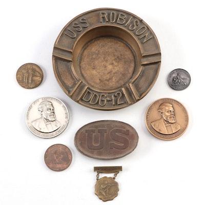 Civil War Regulation 1839 Pattern Waist Belt Plate and Commemorative Items