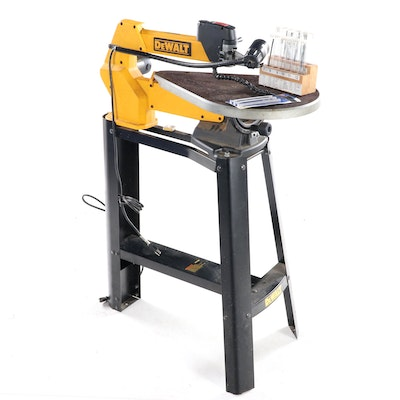 Dewalt Corded Electric Scroll Saw with Stand and Ryobi Blade Sets