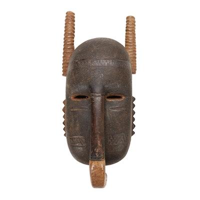 Djimini Style Wooden Mask, Côte d'Ivoire