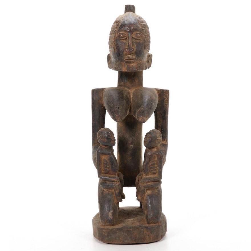 Dogon Style Wooden Maternity Figure, Mali