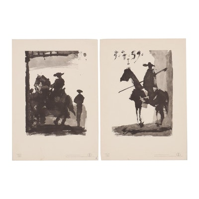 """Offset Lithographs after Pablo Picasso from """"Toros y Toreros"""""""
