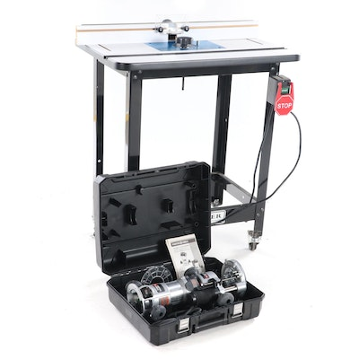 Porter Cable 890 Series Corded Electric Router with Rockler Work Table