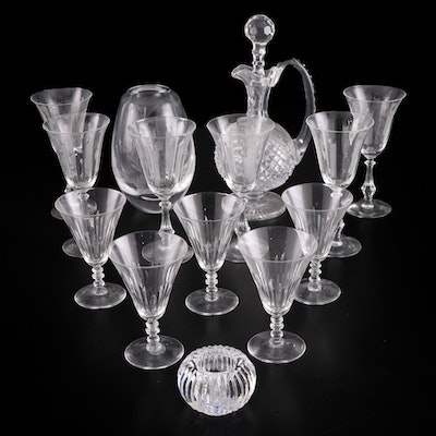 Waterford, Nachtmann, and Other Stemware and Table Accessories, 20th C.