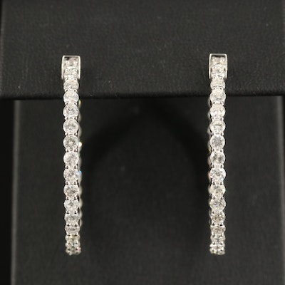 14K 3.48 CTW Diamond Inside-Out Hoop Earrings