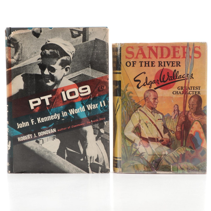 """First Edition """"PT 109"""" by R. Donovan and """"Sanders of the River"""" by E. Wallace"""