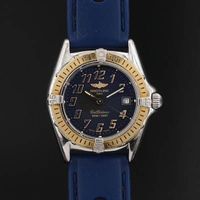 Breitling Callistino 18K and Stainless Steel Quartz Wristwatch