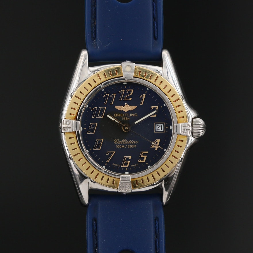 Breitling Callistino 18K and Stainless Steel Quartz Wristwatch