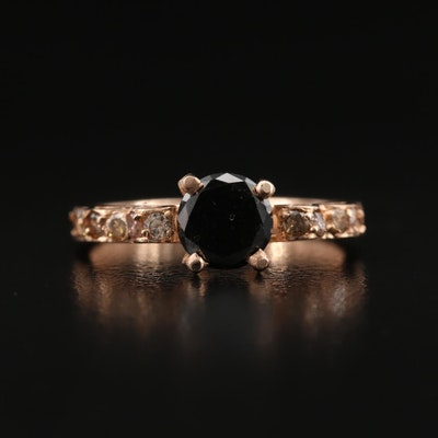 14K 1.10 CTW Rose Gold Diamond Ring