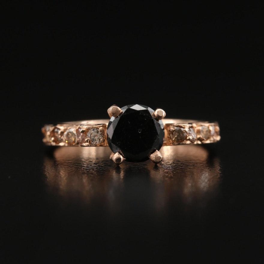 14K 1.10 CTW Rose Gold Diamond Ring