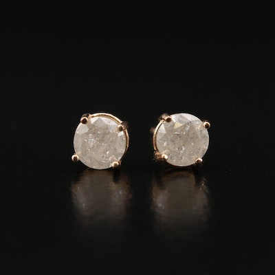 14K Rose Gold 0.85 CTW Diamond Stud Earrings