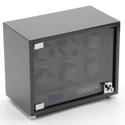 Bey-Berk Carbon Fiber Design Multiple Watch Winder