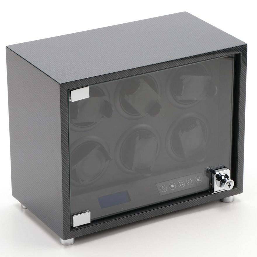 Bey-Berk Carbon Fiber Design Multiple Watch Winder