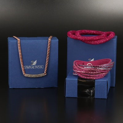 "Swarovski Jewelry Including ""Stardust"" and Suede Wrap Bracelets"