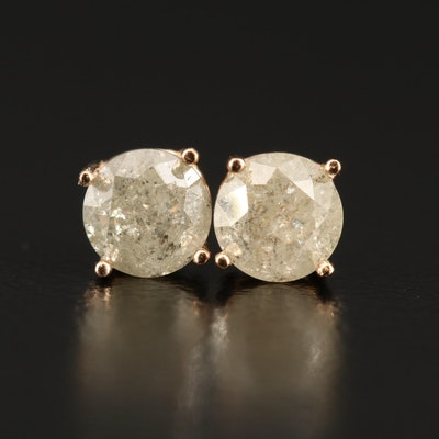 14K Rose Gold 0.89 CTW Diamond Stud Earrings