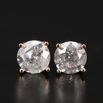 14K 0.90 CTW Diamond Stud Earrings