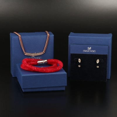 "Swarovski Jewelry Featuring ""Stardust"" Bracelet and ""Harley"" Earring Set"