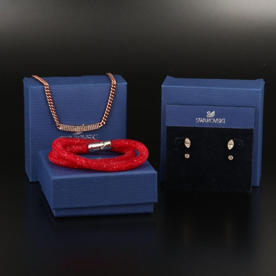 "Swarovski Jewelry Featuring ""Stardust"" Bracelet and ""Harley"" Earring Set"