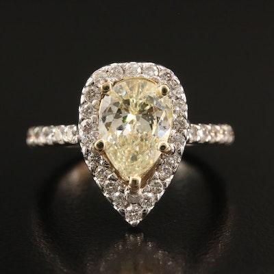 14K 2.68 CTW Diamond Ring