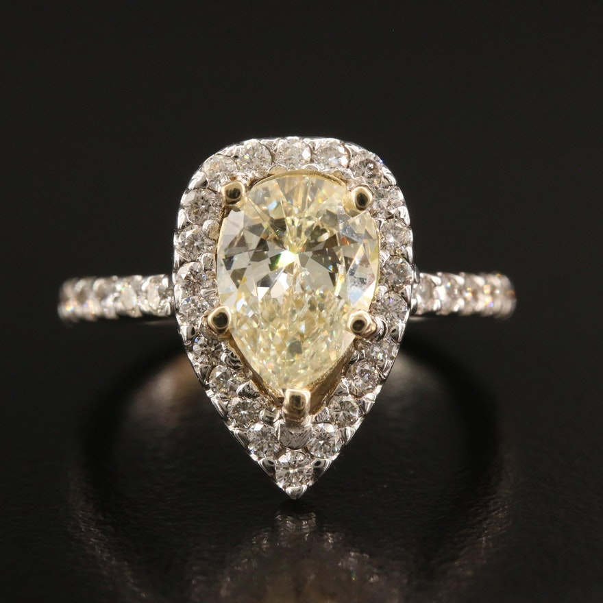 14K 2.68 CTW Diamond Ring