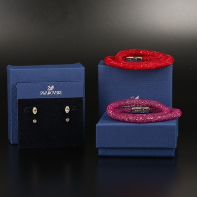 "Swarovski ""Harley"" Earring Set and ""Stardust"" Bracelets"