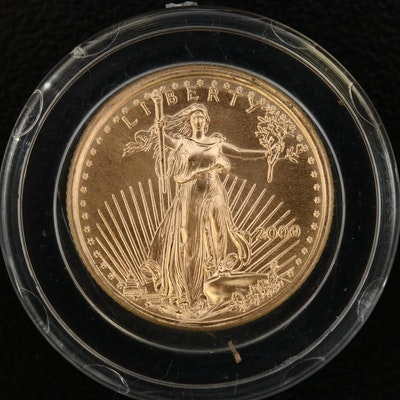 2000 $5 Gold Eagle 1/10th Oz. Bullion Coin