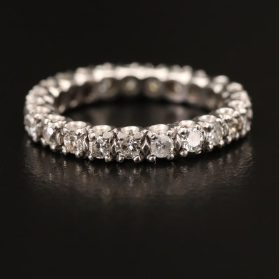 Platinum 1.04 CTW Diamond Eternity Band