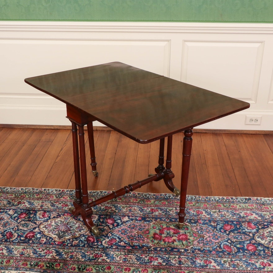 Regency Style Mahogany Sutherland Table, Early 20th C.